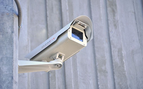 Cctv Camera Installed On A Business Building